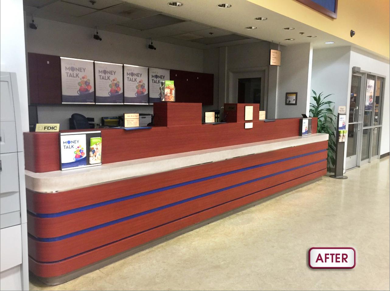Bank Of Hawaii Hawaii Kai Safeway Branch Counter Refurbished Counter After