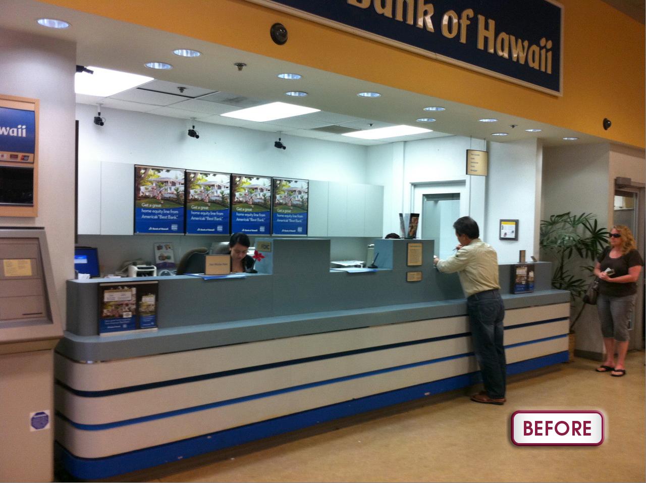 Bank Of Hawaii Hawaii Kai Safeway Branch Counter Refurbished Counter Before