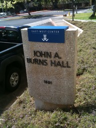 East West Center J.A. Burns Hall Sign 1