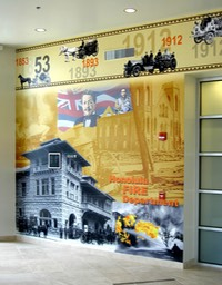 Fire Department Wall Mural 1•