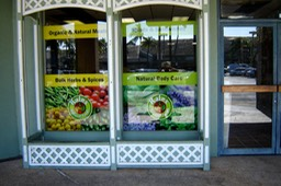 Kale's Natural Foods Windows 4•