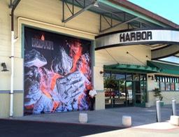 Pier 38 - Nicou0027s u0026 Harbor Roll Up Door Banner #1 & Pier 38 - Nicou0027s u0026 Harbor Restaurant Roll Up Door Banners
